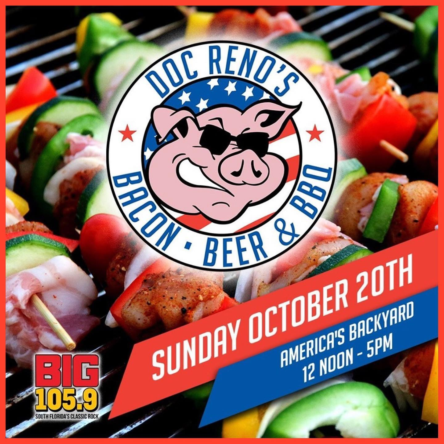 This Sunday Oct 20th – Doc Reno's Bacon, Beer & BBQ